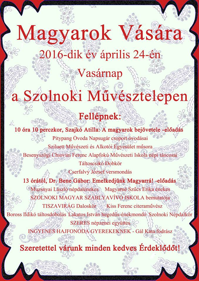 MAGYAROK VÁSÁRA 2016.04.24.